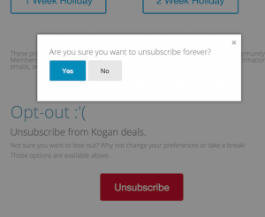 You Want To Unsubscribe